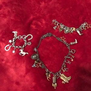 🤠Western charm necklace, 2 bracelets🐴